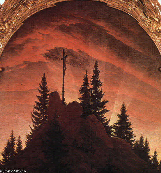 The Cross in the Mountains by Caspar David Friedrich (1774-1840, Germany)