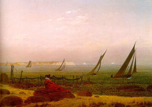 Caspar David Friedrich - Woman on the Beach of Rugen