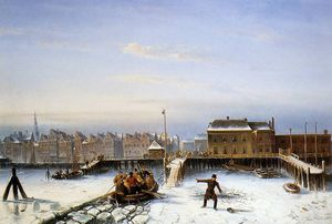 Charles Henri Joseph Leickert - Scholten family on ice Sun