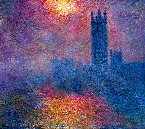 Claude Monet - london parliament sun