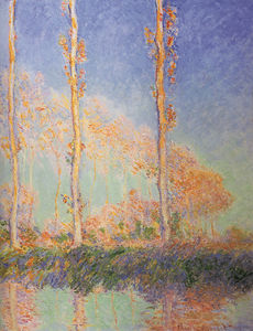Claude Monet - poplars - (Famous paintings reproduction)