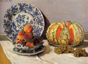 Claude Monet - still life with melon