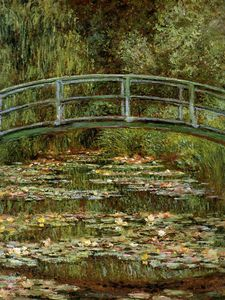Claude Monet - The Japanese bridge Sun
