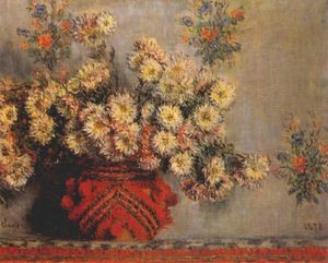 Claude Monet - the chrysanthemums