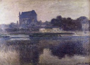 Claude Monet - the church of vernon in the mist