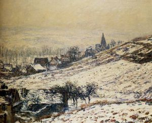 Claude Monet - winter at giverny