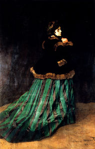 Claude Monet - woman in a green dress