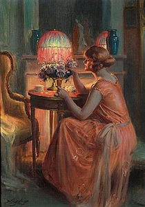 Delphin Enjolras - roses by candlelight