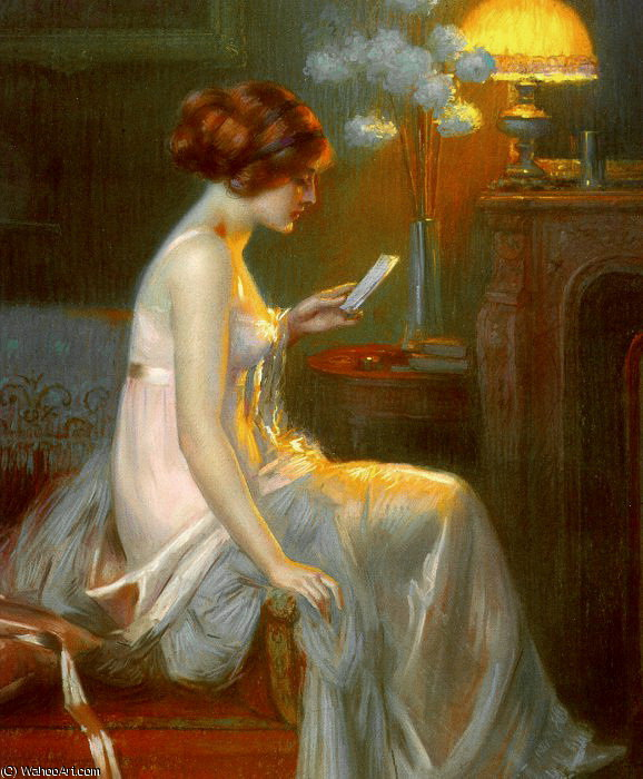 the letter by Delphin Enjolras (1865-1945, France) | Famous Paintings Reproductions | WahooArt.com