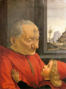 Domenico Ghirlandaio - an old man and his grandson