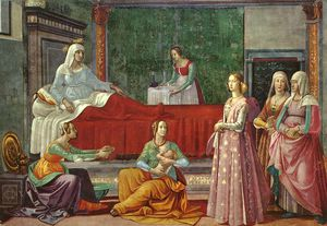 Domenico Ghirlandaio - birth of st john