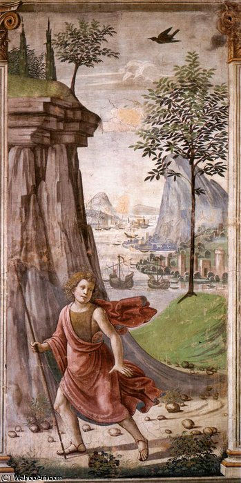 st john the baptist in the desert by Domenico Ghirlandaio (1449-1494, Italy)