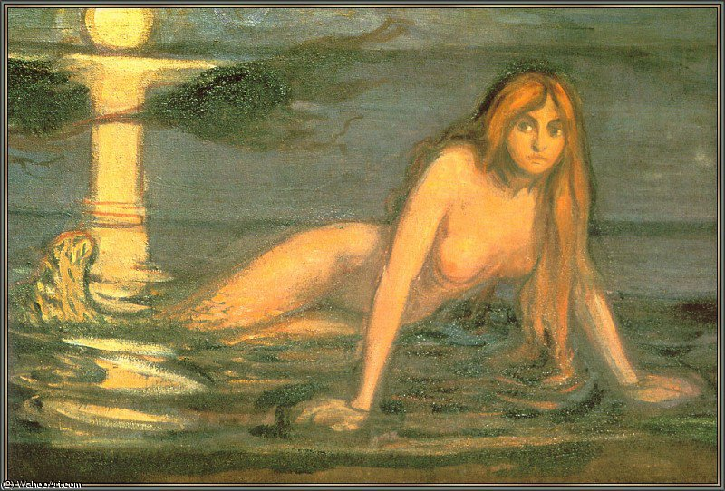 Mermaid (The Lady From The Sea) by Edvard Munch (1863-1944, Sweden)
