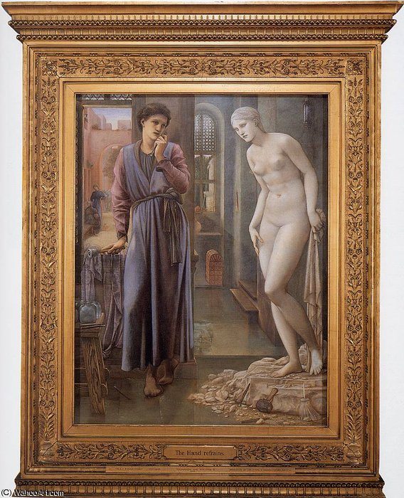 Order Reproductions | Burne Jones Pygmalion and the Image II The Hand Refrains by Edward Coley Burne-Jones (1833-1898, United Kingdom) | WahooArt.com