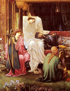 Edward Coley Burne-Jones - burne jones sir edward the last sleep of arthur in avalon