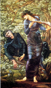 Edward Coley Burne-Jones - the beguiling of merlin