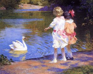 Edward Henry Potthast - pothast edward the swan