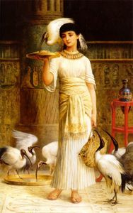 Edwin Longsden Long - Alethe Attendant of the Sacred Ibis in the Temple of Isis at