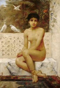 Edwin Longsden Long - Ready for the Bath