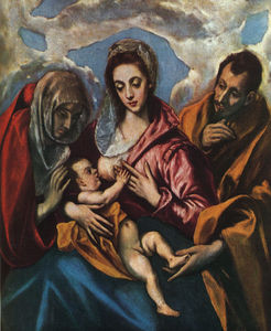 El Greco (Doménikos Theotokopoulos) - Holy Family (The Virgin of the Good Milk)