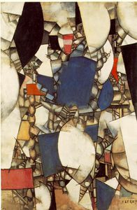 Fernand Leger - Woman in blue - -