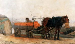 Buy Museum Art Reproductions | floris horse and carriage sun by Pieter Florentius Nicolaas Jacobus Arntzenius (1864-1925, Indonesia) | WahooArt.com