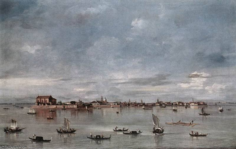 San Cristoforo San Michele and Murano Seen from the Fondamenta Nuove by Francesco Lazzaro Guardi (1712-1793, Italy)