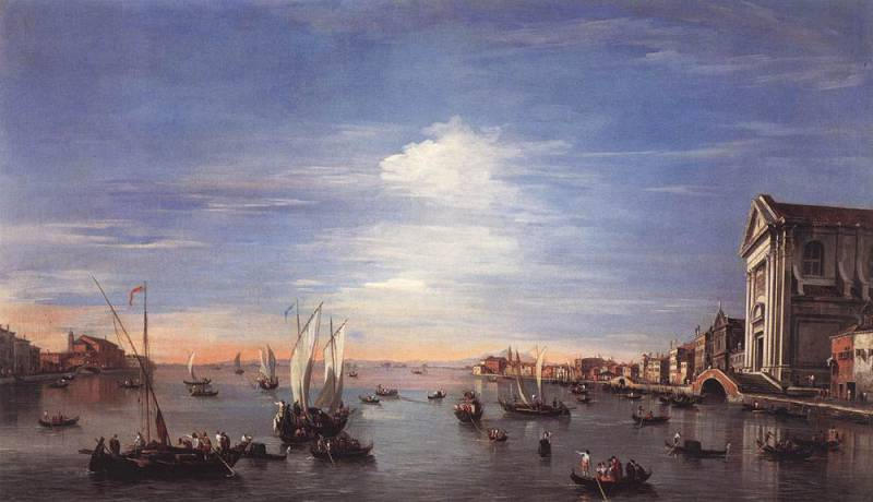 The Giudecca Canal with the Zattere by Francesco Lazzaro Guardi (1712-1793, Italy)