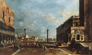 Francesco Lazzaro Guardi - View of Piazzetta San Marco towards the San Giogio Maggiore