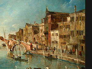 Francesco Lazzaro Guardi - View on the Cannaregio Canal, Venice