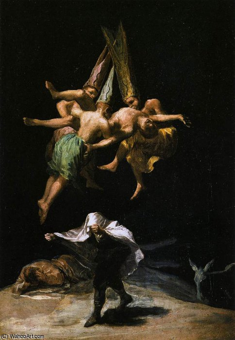 Witches in the Air by Francisco De Goya (1746-1828, Spain) | WahooArt.com