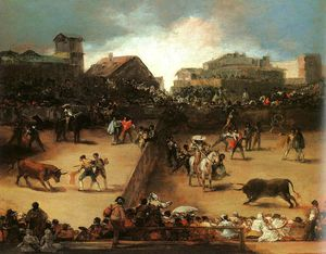 Francisco De Goya - The Bullfight - oil on canvas