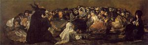 Francisco De Goya - The Great He Goat or Witches Sabbath