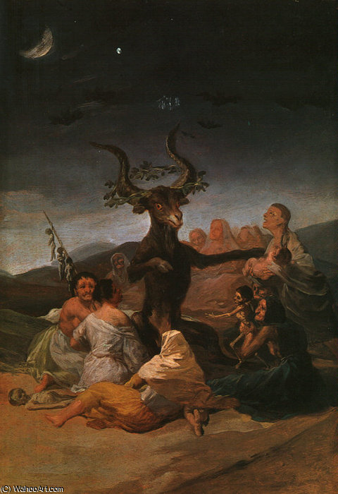 witches sabbath by Francisco De Goya (1746-1828, Spain)