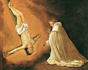 Francisco Zurbaran - The Apparition of Apostle St Peter to St Peter of Nolasco