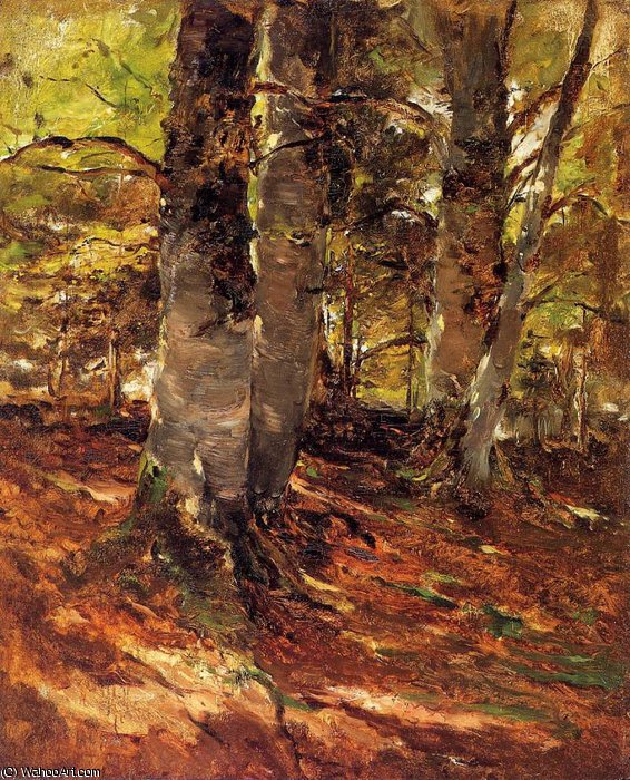 Beachwoods at Polling by Frank Duveneck (1848-1919, United States)