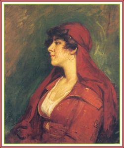 Frank Duveneck - Lady in Red