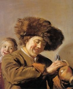 Frans Hals - Two laughing boys Sun