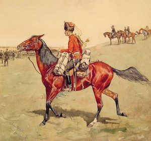 Frederic Remington - hussar russian guard corps