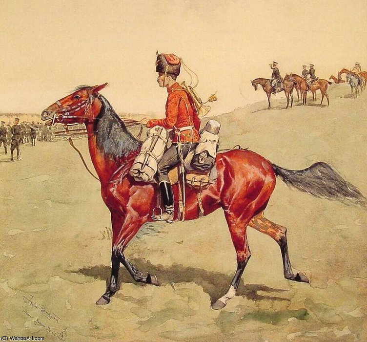 hussar russian guard corps by Frederic Remington (1861-1909, United States)