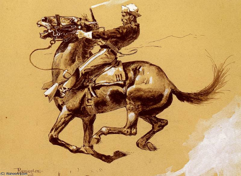 ugly by Frederic Remington (1861-1909, United States)