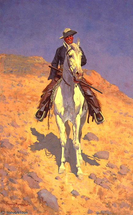Self Portrait on a Horse by Frederic Remington (1861-1909, United States)