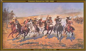 Frederic Remington - the flight towards the wood