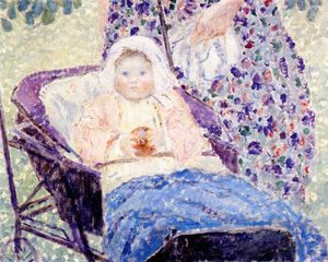 Frederick Carl Frieseke - baby in pram