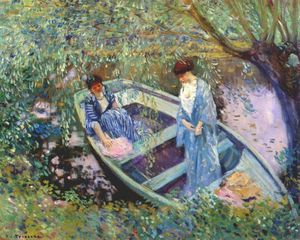 Frederick Carl Frieseke - under the willows