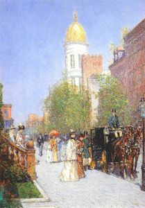 Frederick Childe Hassam - a spring morning