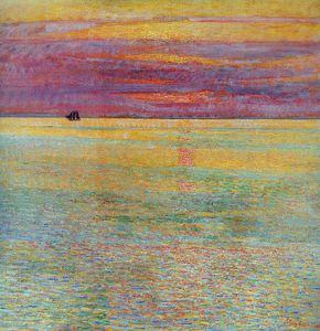 Frederick Childe Hassam - Sunset at sea Sun