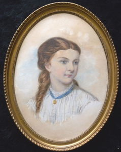 Frederick Goodall - Portrait of young girl