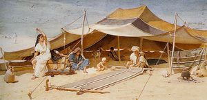 Frederick Goodall - Spinners and weavers