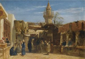 Frederick Goodall - street in cairo